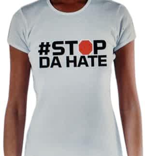 women white stop da hate shirt
