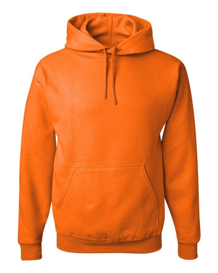 orange hoodie front plain